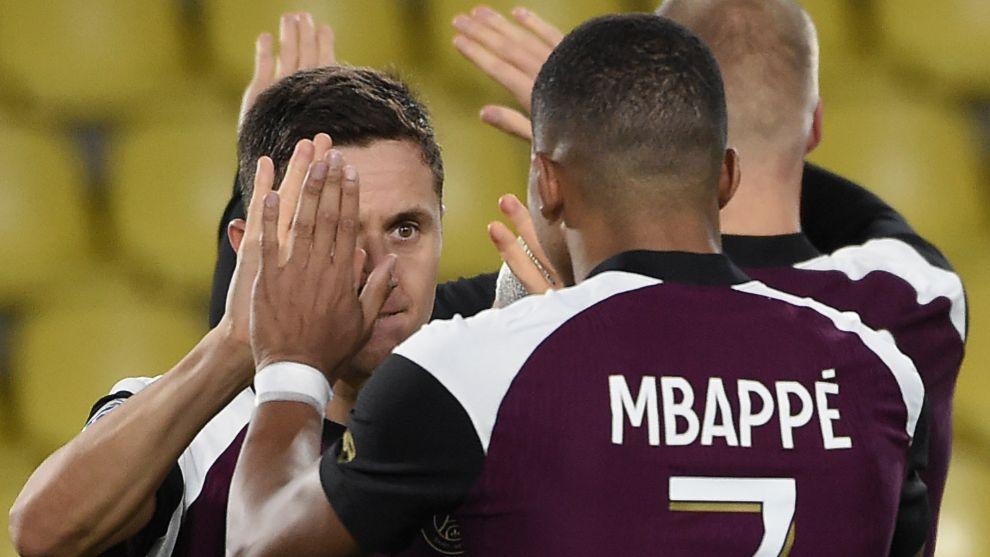 Mbappé, Ander Herrera y Sarabia dan la victoria al PSG en Nantes