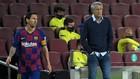Setién y Messi, en un partido del Barcelona.