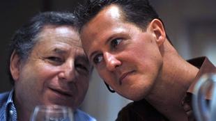 Jean Todt y Michael Schumacher.