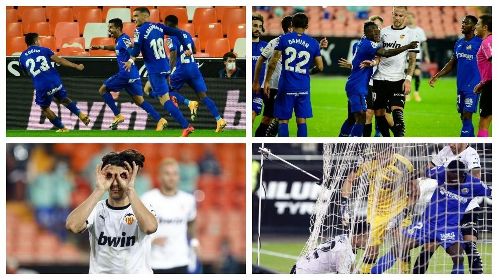 Valencia y Getafe empatan en el final más loco de la temporada