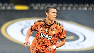 Cristiano celebra su gol ante el Spezia.