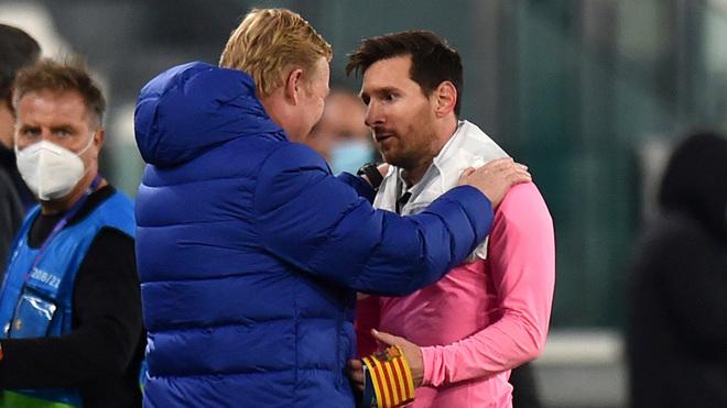 Ronald Koeman and Lionel Messi.