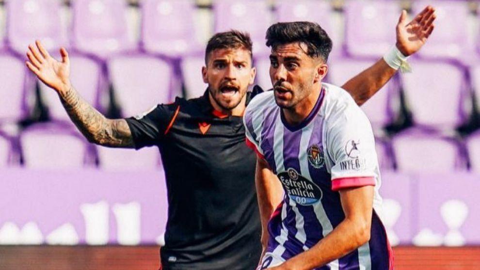 Kike Pérez, en un partido con el Valladolid