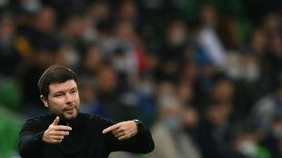 Musaev (36), técnico del Krasnodar.