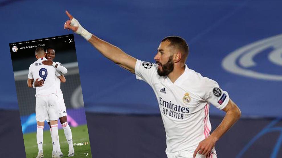 Karim Benzema en el gol y la story que ha subido