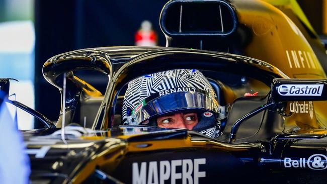 Fernando Alonso, durante el primer día de test en Bahréin.