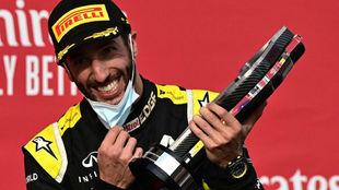 Ricciardo, celebra su segundo podio de 2020 con Renault en Imola