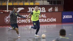 Miguelín, en un entrenamiento esta semana en la Ciudad del Fútbol de...