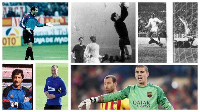 Iconic Barcelona goalkeepers.