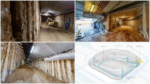 Así es el túnel del nuevo Bernabéu por el que entrarán los jugadores  y los suministros del estadio