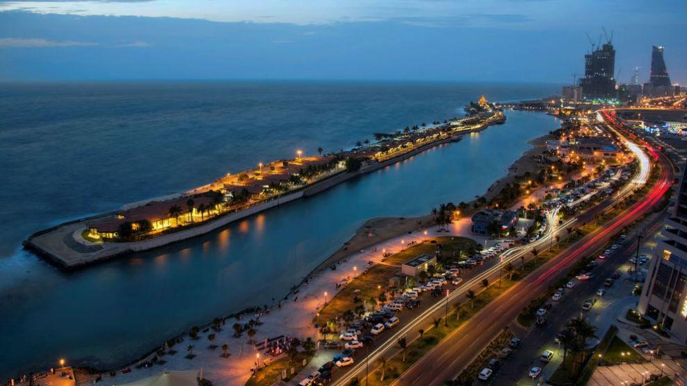 La zona de Jeddah donde se hará la carrera en Arabia Saudí.