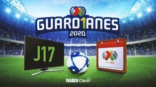 jornada 17 guardianes 2020 horarios y canales