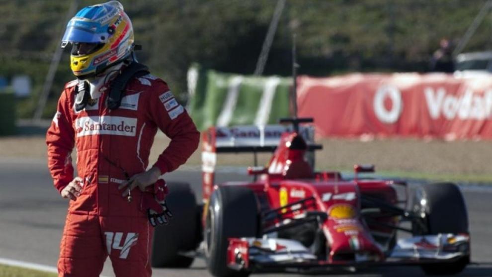Fernando Alonso con Ferrari.