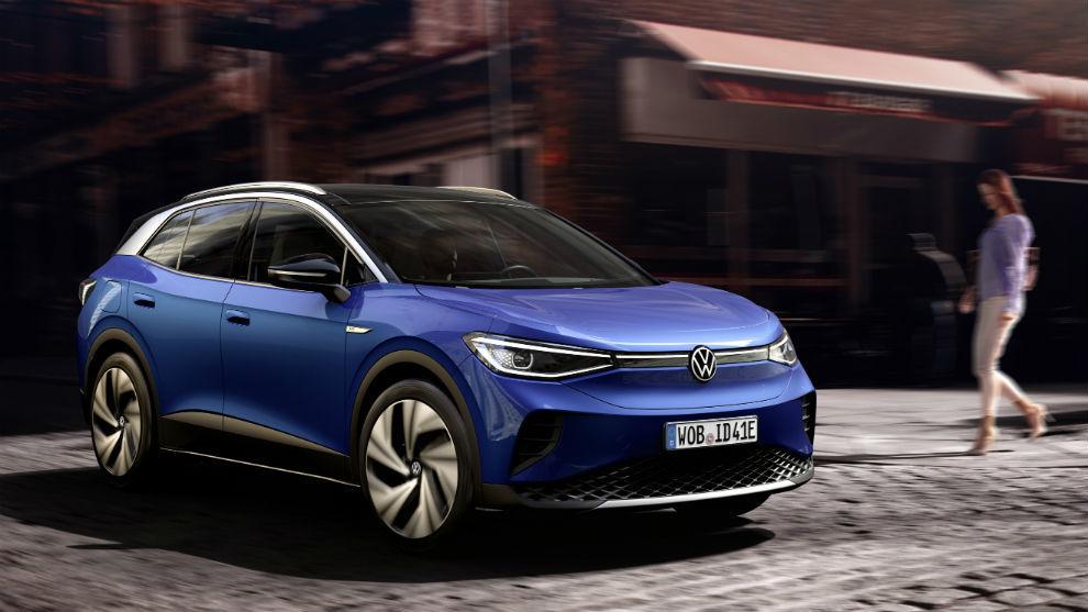 El Volkswagen ID.4 100% eléctrico.