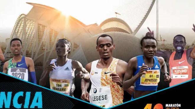 Unos cien atletas de 43 países buscarán la mínima olímpica en el Maratón de Valencia