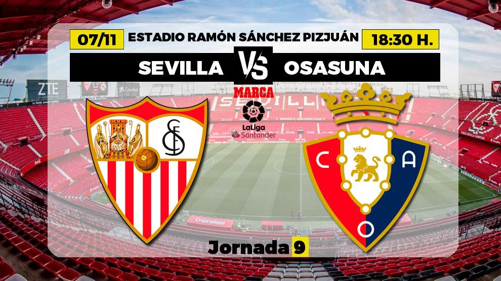 Sevilla - Osasuna: Horario y dónde ver en TV el partido de la jornada...