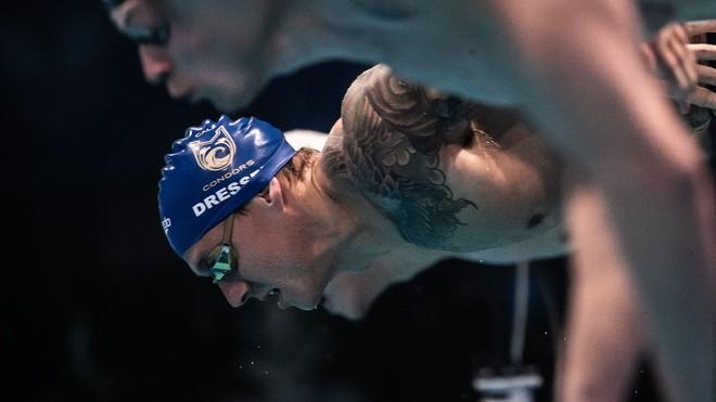 Caeleb Dressel, en la salida de una prueba.