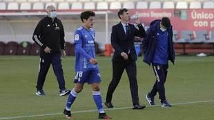 Ziganda abandona el Carlos Belmonte junto a sus ayudantes y Sangalli