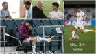 Marco Asensio, con Luis Enrique, Zidane, en la grada y jugando