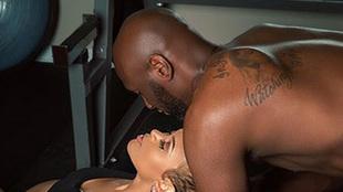 Lamar Odom con su ex pareja Sabrine Parr