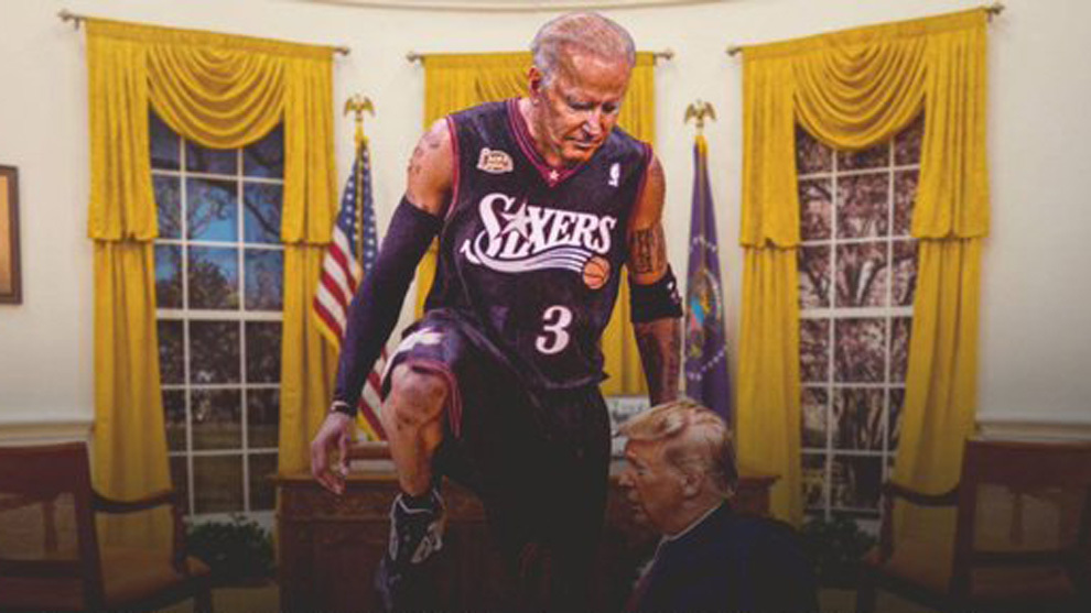 'Thanos' Trump, 'Iverson' Biden... así viven los NBA las elecciones más largas de EE.UU.