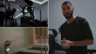 El brutal 'Gym Tour' de Benzema: así es el lujoso gimnasio que tiene en su casa