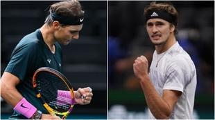 Rafa Nadal - Zverev, semifinal ATP París.