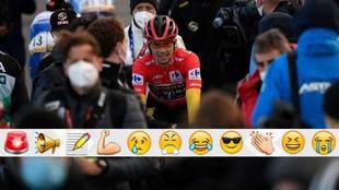 Movistar se venga de Carapaz y salva la Vuelta del 'pirómano' Roglic
