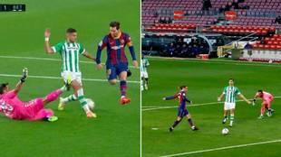 La última genialidad de Messi: 'asistencia' a Griezmann sin tocar la pelota