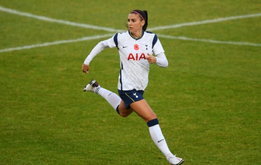Alex Morgan debuta con el Tottenham