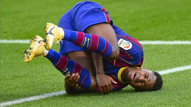 Grave lesión de Ansu Fati