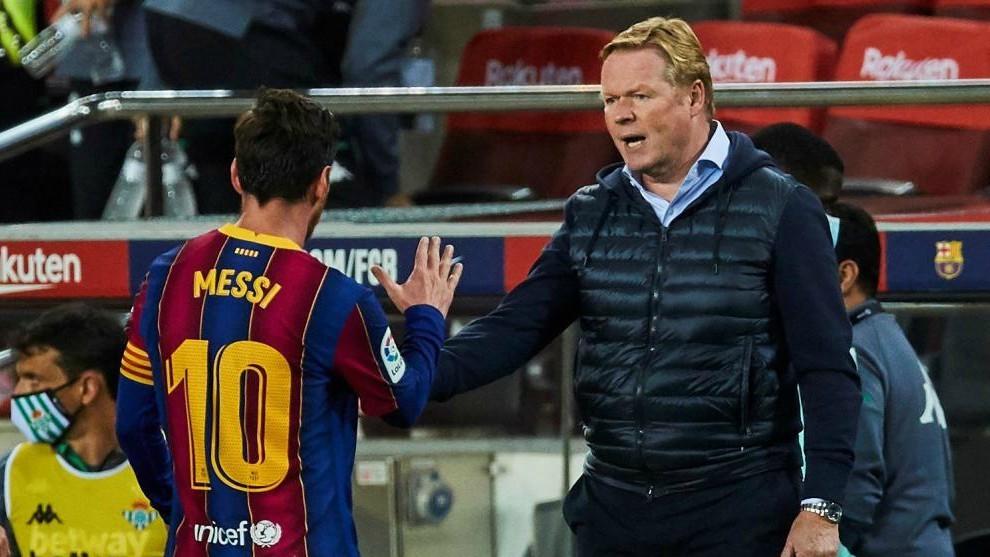 Leo Messi and Ronald Koeman.
