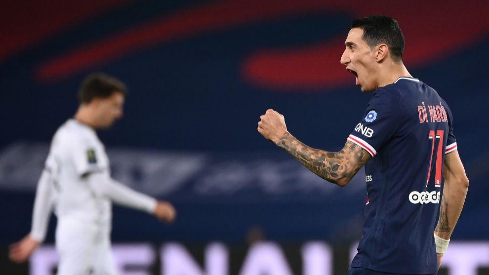Di María hace de Neymar y Mbappé en la victoria del PSG ante el Rennes
