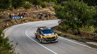 Segundo triunfo consecutivo para el asturiano al volante del Skoda...