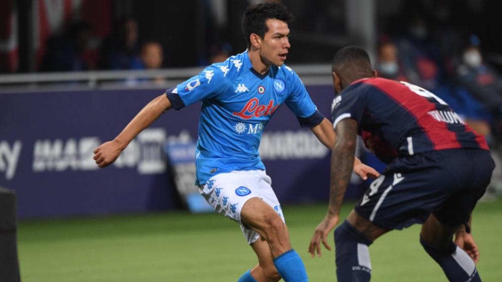 Napoli gana con asistencia de Chucky Lozano y sube al tercer lugar de la clasificación