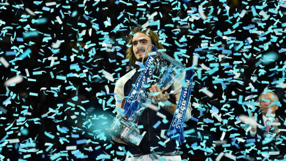 Tsitsipas, with the last's Masters trophy