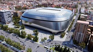 Imagen de la recreación del nuevo estadio Santiago Bernabéu
