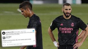 """El agente de Benzema: """"Después de lo del City, Varane es una sombra de sí mismo"""""""