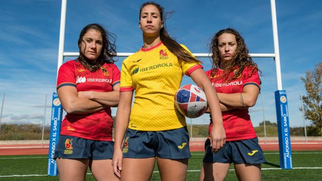 Integrantes de la selección femenina española de rugby.