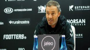 Óscar Cano en rueda de prensa.