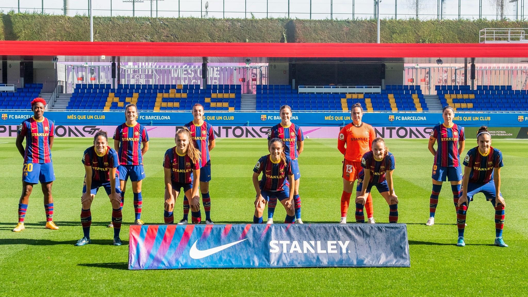 Once inicial del Barcelona esta temporada en el estadi Johan Cruyff.