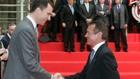 Jordi Llopart, en una recepción con el Rey Felipe VI en el LXXXV...