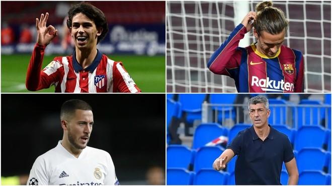 Joao Félix, Griezmann, Hazard and Imanol.
