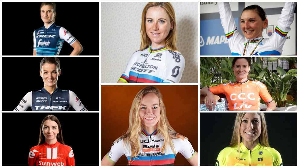 Las ocho mejores ciclistas del año 2020.