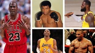 Jordan, Ali, LeBron, Kobe y Tyson lideran el ranking de deportistas...