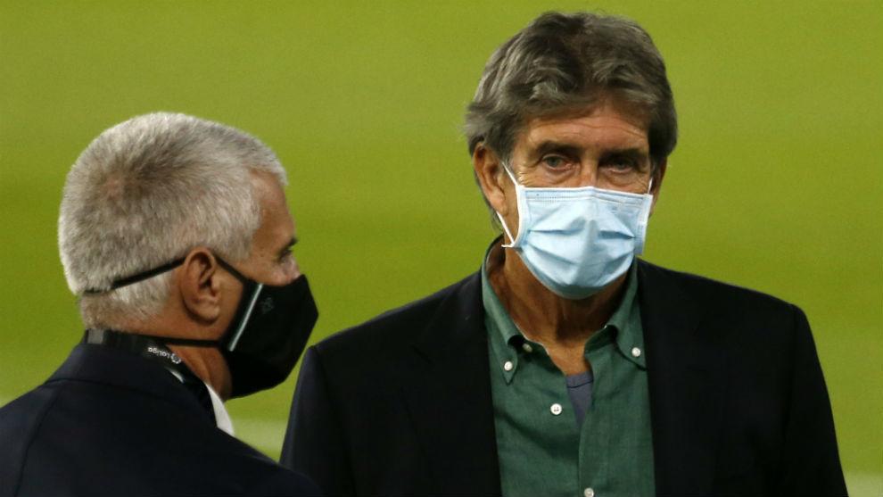 Cordón y Pellegrini, antes de un partido
