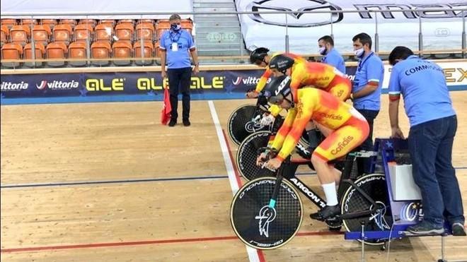 España, a 463 milésimas del bronce en velocidad masculina por equipos