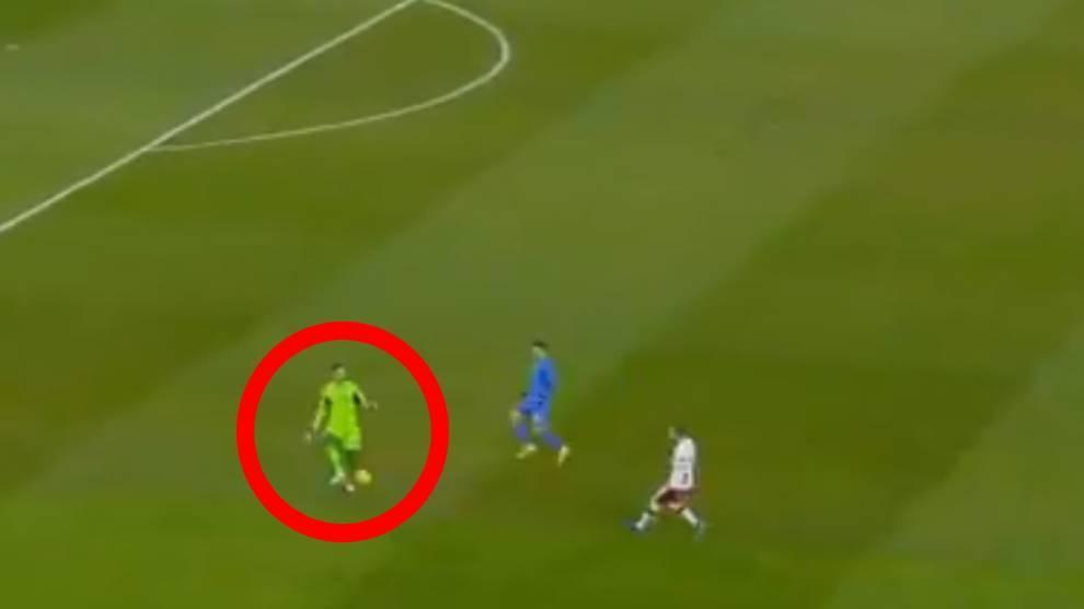 Tremenda liada de Lunin: ¿pero dónde iba el portero del Madrid?
