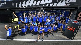El equipo Suzuki MotoGP, en el Ricardo Tormo.