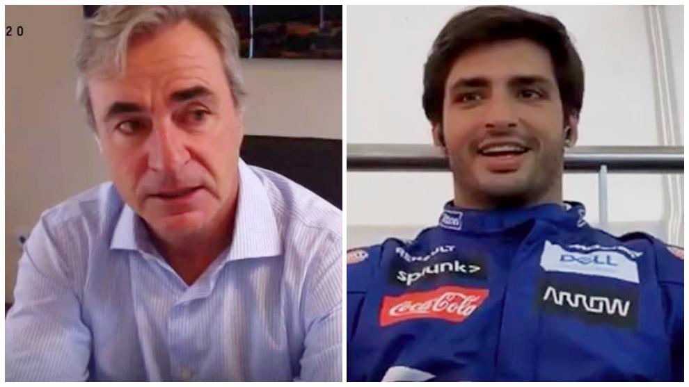 """Carlos Sainz, padre e hijo: """"Veremos si corremos a la vez el Dakar"""""""